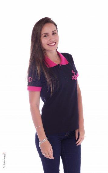 9e0649a310b71 POLO FEMININA 3º COLEGIAL JMJ - Produtos - Raciocínio Estamparia e  Confecção - Franca-SP - Uniformes em Camisetas
